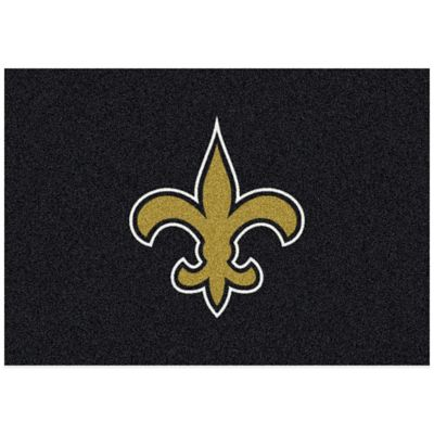 NFL New Orleans Saints 3-Foot 10-Inch x 5-Foot 4-Inch Small Team Spirit Rug