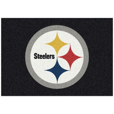 NFL Pittsburgh Steelers 5-Foot 4-Inch x 7-Foot 8-Inch Medium Team Spirit Rug