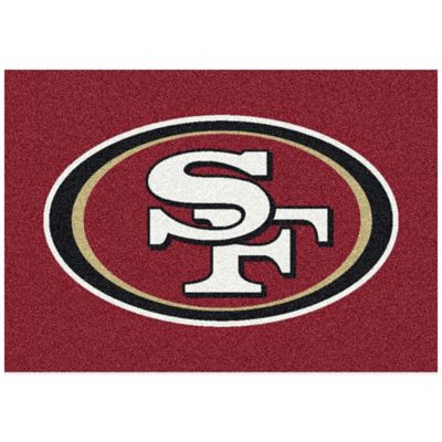 NFL San Francisco 49ers 3-Foot 10-Inch x 5-Foot 4-Inch Small Team Spirit Rug