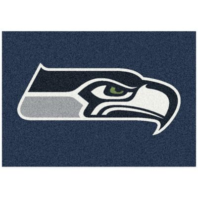 NFL Seattle Seahawks 5-Foot 4-Inch x 7-Foot 8-Inch Medium Team Spirit Rug