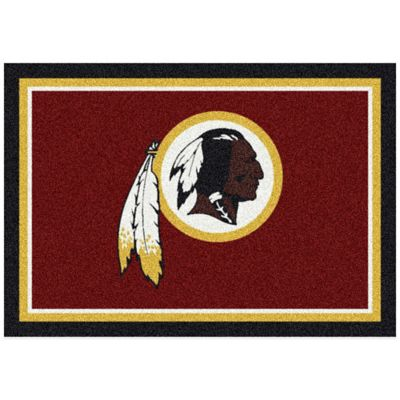 NFL Washington Redskins 5-Foot 4-Inch x 7-Foot 8-Inch Medium Team Spirit Rug