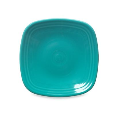 Square Salad Plate in Turquoise