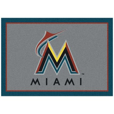 MLB Miami Marlins 7-Foot 8-Inch x 10-Foot 9-Inch Large Spirit Rug