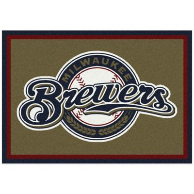 MLB Milwaukee Brewers 7-Foot 8-Inch x 10-Foot 9-Inch Large Spirit Rug