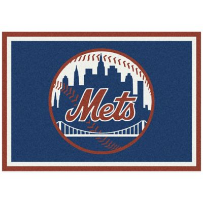 MLB New York Mets 3-Foot 10-Inch x 5-Foot 4-Inch Small Spirit Rug