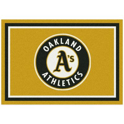 MLB Oakland Athletics 7-Foot 8-Inch x 10-Foot 9-Inch Large Spirit Rug