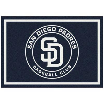MLB San Diego Padres 3-Foot 10-Inch x 5-Foot 4-Inch Small Spirit Rug