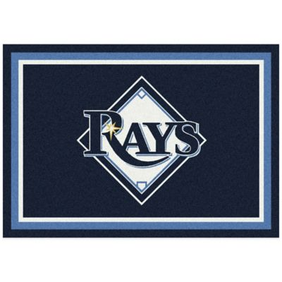 MLB Tampa Bay Rays 3-Foot 10-Inch x 5-Foot 4-Inch Small Spirit Rug