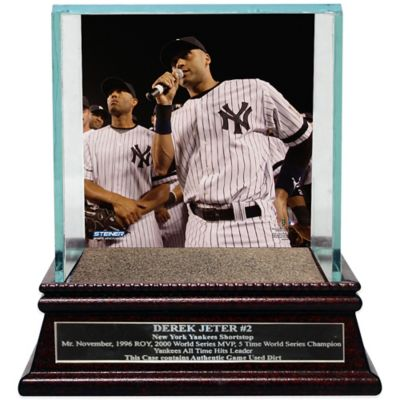 Steiner Derek Jeter Moments Farewell Speech Single Baseball Glass Case