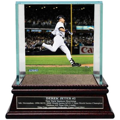 Steiner Derek Jeter Moments Passing Gehrig Single Ball Glass Case