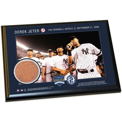 Steiner Derek Jeter Moments Farewell Speech Small Plaque