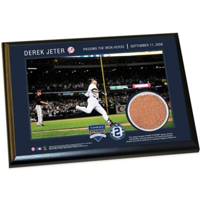 Steiner Derek Jeter Moments Passing Gehrig Small Plaque