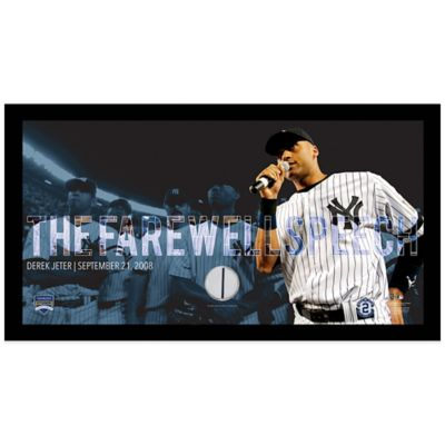 Derek Jeter Moments Farewell Speech Mosaic Frame