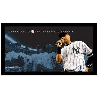 Steiner Derek Jeter Moments Farewell Speech Frame