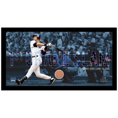 Derek Jeter Moments 1st Grand Slam Mosaic Frame