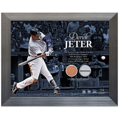 Steiner Derek Jeter Hitting Uniform & Dirt Collage