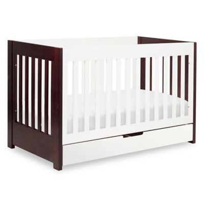 Babyletto Mercer 3-in-1 Convertible Crib in White/Espresso