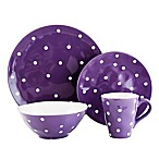 Maxwell & Williams™ Sprinkle 4-Piece Place Setting in Purple