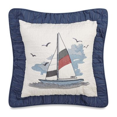 Donna Sharp Sailboat Square Toss Pillow