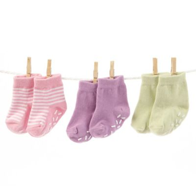 Baby Aspen Sweet Feet Three Scoops of Socks Gift Set in Pink