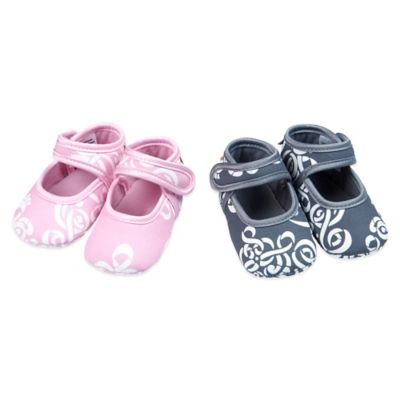 Baby Bella Maya™ Size 0-6M 2-Pair Booties Gift Set in Royal Mist/Pinkabella