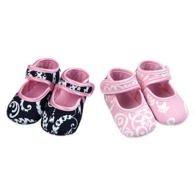 Baby Bella Maya™ Size 0-6M 2-Pair Booties Gift Set in Mid-Summer Dream/Pinkabella