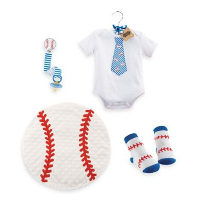 Mud Pie® 4-Piece Deluxe Baseball Gift Set