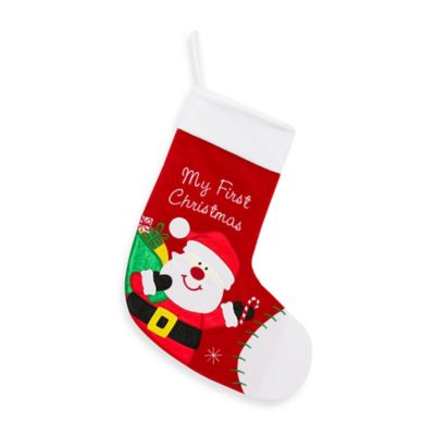 Santa My First Christmas Stocking in Red