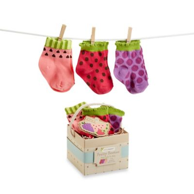 Baby Aspen 3-Pack Fruity Booties for Baby in Assorted Colors