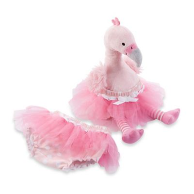 Baby Aspen Fancy Pants Plush Flamingo & Bloomer for Baby
