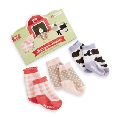 Baby Aspen Barnyard Booties Farm Fun Socks Set