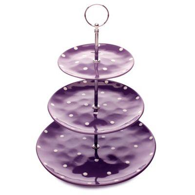 Purple Cake Stand