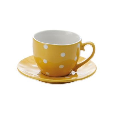Maxwell & Williams™ Sprinkle Collection 2-Piece Cup and Saucer in Yellow