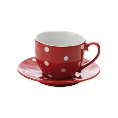 Maxwell & Williams™ Sprinkle Collection 2-Piece Cup and Saucer in Red