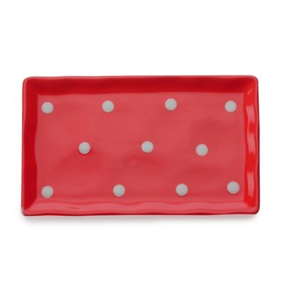 Maxwell & Williams™ Sprinkle Rectangular Tray in Red