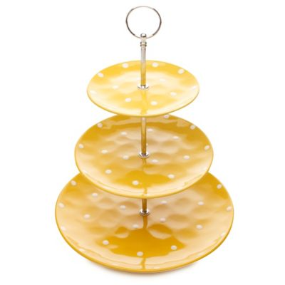Maxwell & Williams™ Sprinkle Collection 3-Tier Cake Stand in Yellow
