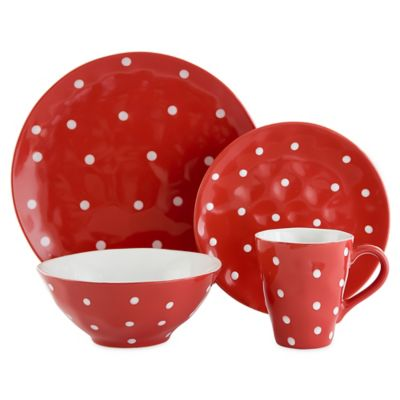 Maxwell & Williams™ Sprinkle Collection 4-Piece Place Setting in Red