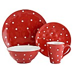 Maxwell & Williams™ Sprinkle 4-Piece Place Setting in Red