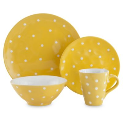 Maxwell & Williams™ Sprinkle 4-Piece Place Setting in Yellow