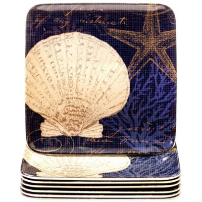 Certified International Coastal Moonlight Salad Plate (Set of 6)