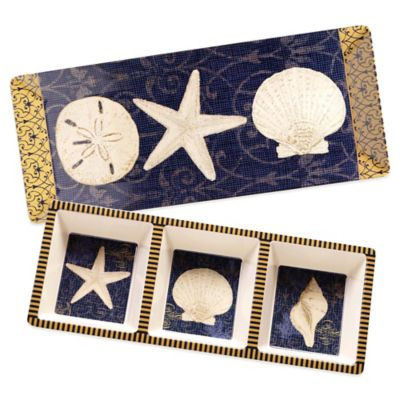 Certified International Coastal Moonlight 2-Piece Appetizer Set