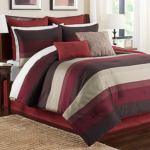 Buy Hudson Twin Comforter Set In Red From Bed Bath Amp Beyond