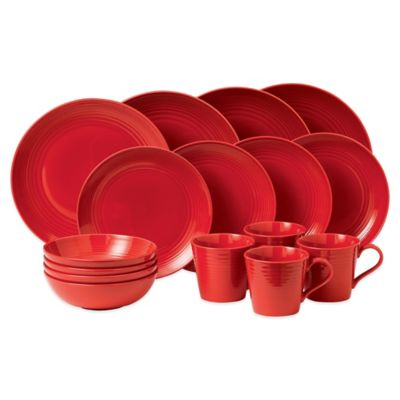 Gordon Ramsay by Royal Doulton® Maze 16-Piece Dinnerware Set in Red