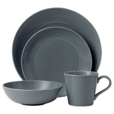Gordon Ramsay by Royal Doulton® Maze 4-Piece Set in Dark Grey