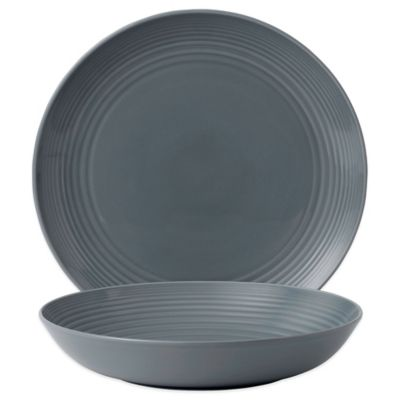 Gordon Ramsay by Royal Doulton® Maze 2-Piece Serving Set in Dark Grey