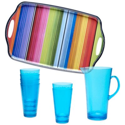 Certified International Serape 8-Piece Beverage Set