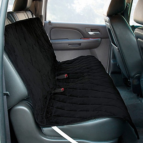 bench style deluxe quilted micro suede car seat protector. Black Bedroom Furniture Sets. Home Design Ideas