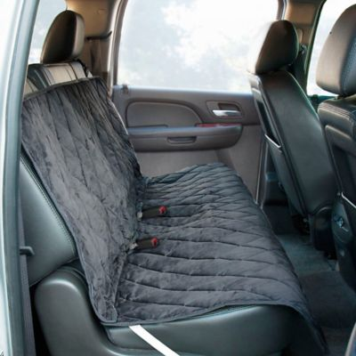 Bench Style Deluxe Quilted Micro Suede Car Seat Protector in Grey