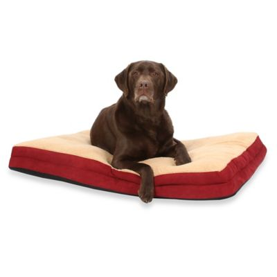 Jenny Pillow Top 30-Inch x 40-Inch Pet Bed in Burgundy