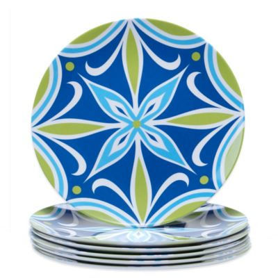 Certified International Mediterranean Salad Plates (Set of 6)